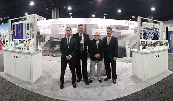 From left: EAO Corporation (United States) President Lance A. Scott; Vice President of HMI Systems Sales John J. Pannone; Vice President of HMI Components Sales Joseph Torzillo; Marketing Manager Dan DiGioia.