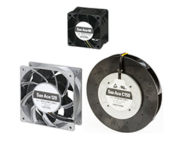 Overview of Sanyo Denki fan range